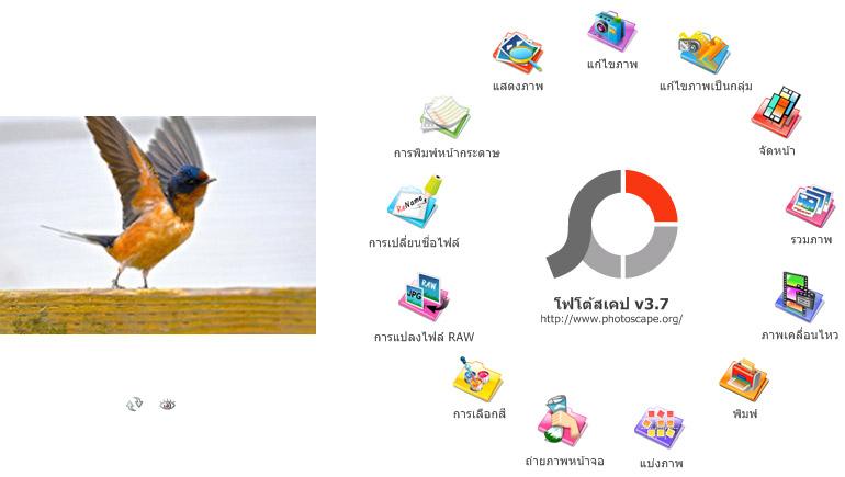 photoscape เทคนิคต่างๆ แต่งภาพ แต่งรูป โปรแกรม