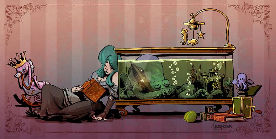 ภาพความน่ารัก เจ้าหมึกยักษ์