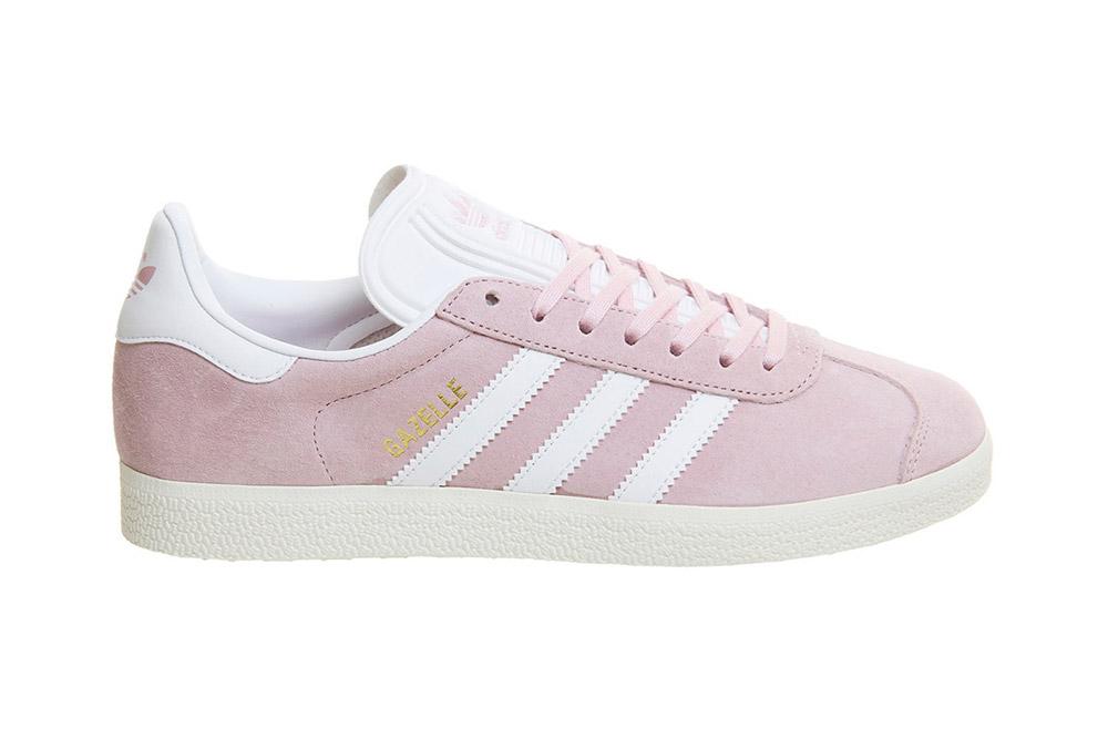 รองเท้า Adidas Gazelle Trainers Wonder Pink White Gold