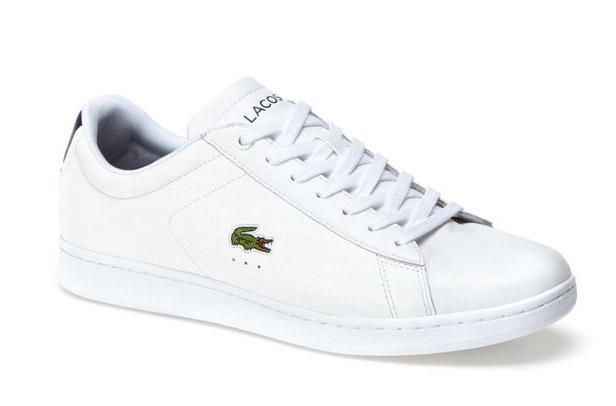 Lacoste contrast heel leather sneakers