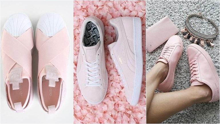 shoes Sneakers รองเท้า รองเท้าสีชมพู ราคารองเท้า