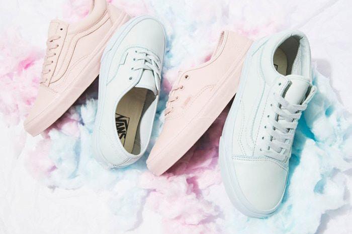 vans รองเท้า รองเท้าผ้าใบ สีพาสเทล แวนส์