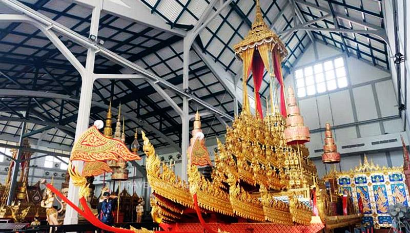 พระราชพิธีถวายพระเพลิง ร.9 พระเวชยันตราชรถ พิพิธภัณฑสถานแห่งชาติ พระนคร พิพิธภัณฑ์ สถานที่สำคัญ โบราณราชประเพณี โรงราชรถ