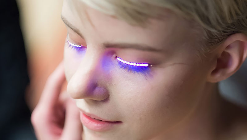 LED ขนตา ขนตาปลอม