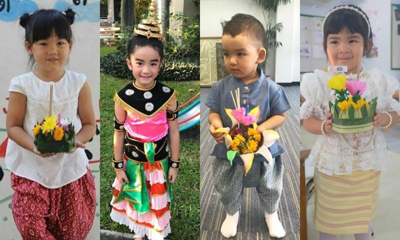 ลูกดารา ลูกดาราในชุดไทย วันลอยกระทง