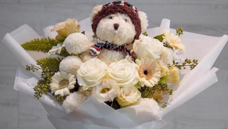 Congratulations ช่อดอกไม้ ดอกไม้แห้ง ร้านดอกไม้ แสดงความยินดี