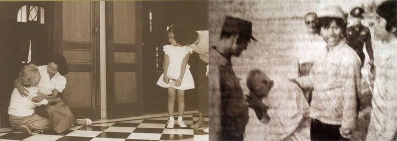 """ภาพสมเด็จพระพี่นางกอดลา """"แหนน"""" เมื่อครั้งขอลาไปเป็นอุบาสิกาอย่างถาวรในบั้นปลายชีวิต"""