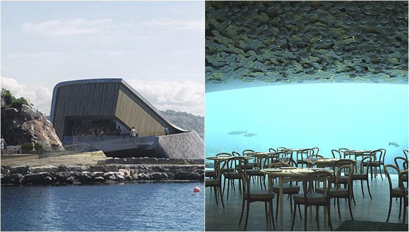 ทะเล ยุโรป ร้านอาหาร ร้านอาหารใต้ทะเล