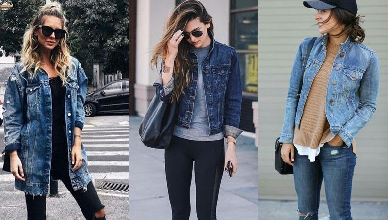 เสื้อคลุมยีนส์แขนยาว + กางเกงขายาว