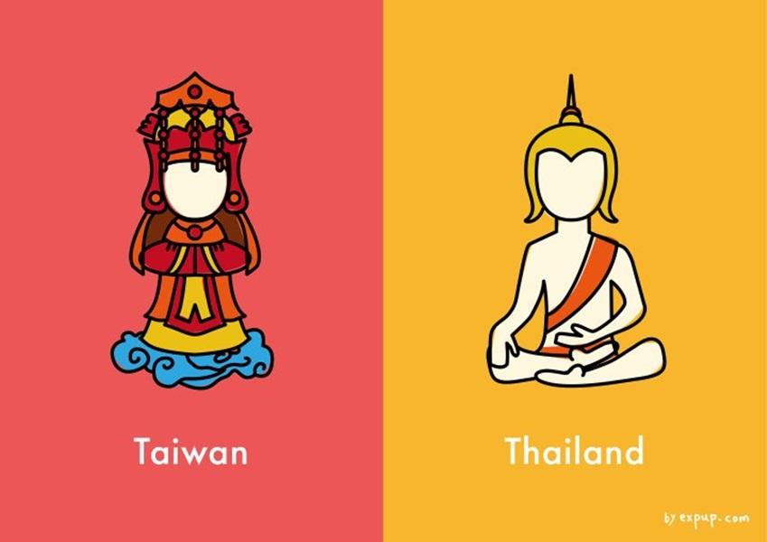 ความแตกต่างระหว่าง ไทยแลนด์-ไต้หวัน ฉบับการ์ตูน