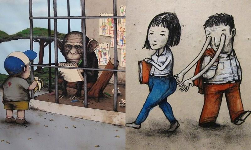 ภาพวาด ภาพเสียดสีสังคม