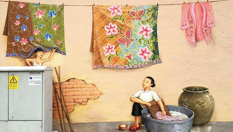 กำแพง ท่องเที่ยว ศิลปะ สิงคโปร์