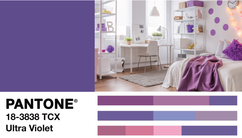 Colour of the Year 2018 pantone2018 Ultra Violet แต่งห้องนอน แต่งห้องโทนม่วง