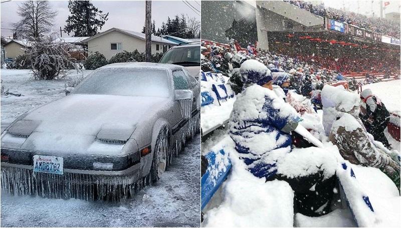 ประเทศสหรัฐอเมริกา หน้าหนาว แคนาดา