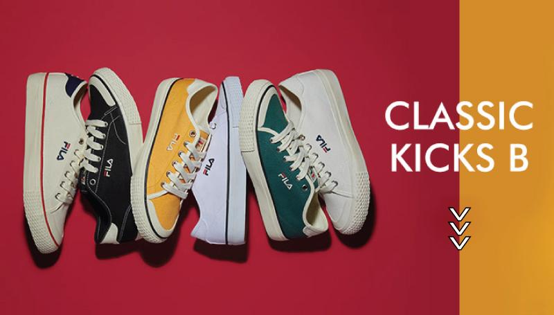 FILA คลาสสิค รองเท้า FILA รองเท้าผ้าใบ รองเท้าผ้าใบสุดฮิต
