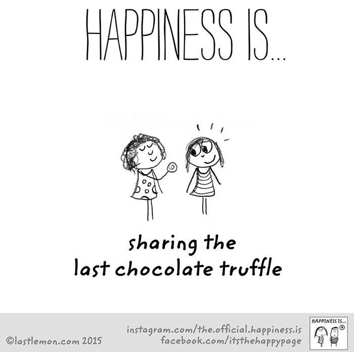 การได้แบ่งปัน Chocolate truffle กับใครสักคน