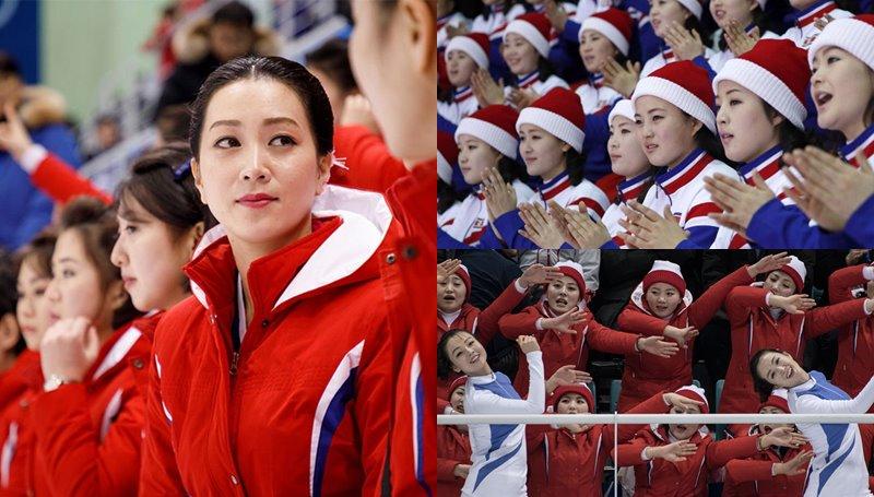 เกาหลีเหนือ เกาหลีใต้ เชียร์ลีดเดอร์ เชียร์ลีดเดอร์เกาหลีเหนือ โอลิมปิก โอลิมปิกฤดูหนาว