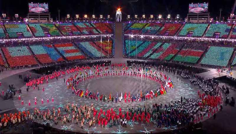 พยองชางเกมส์ 2018 พิธีปิด เกาหลีใต้ โอลิมปิก โอลิมปิกฤดูหนาว