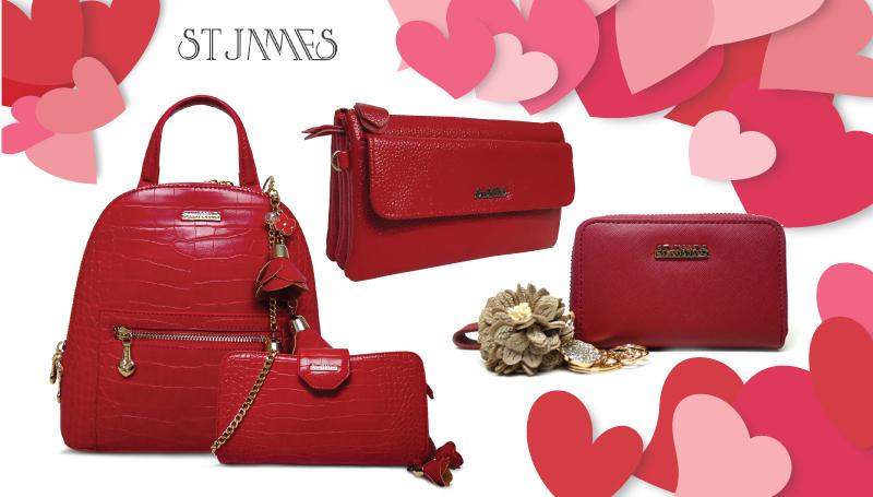 ST.JAMES &TREND กระเป๋าสีแดง วาเลนไทน์ เดือนแห่งความรัก