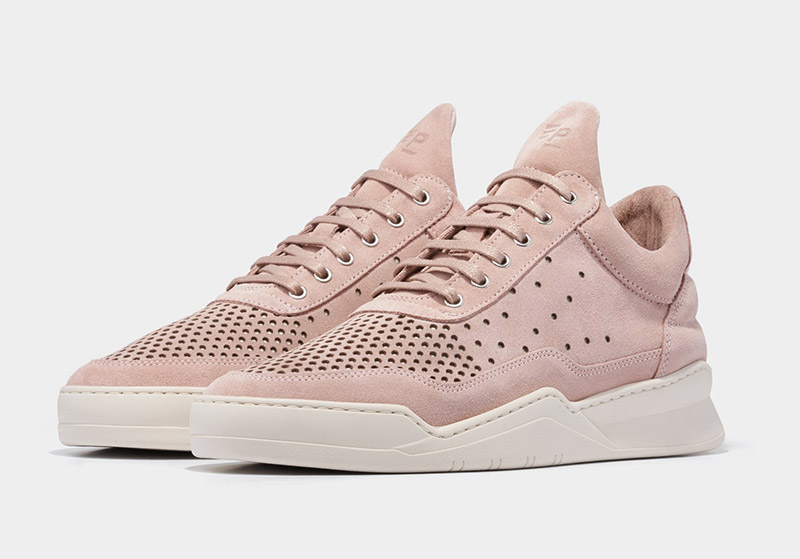 Low Top Ghost Gradient Perforated Light Pink