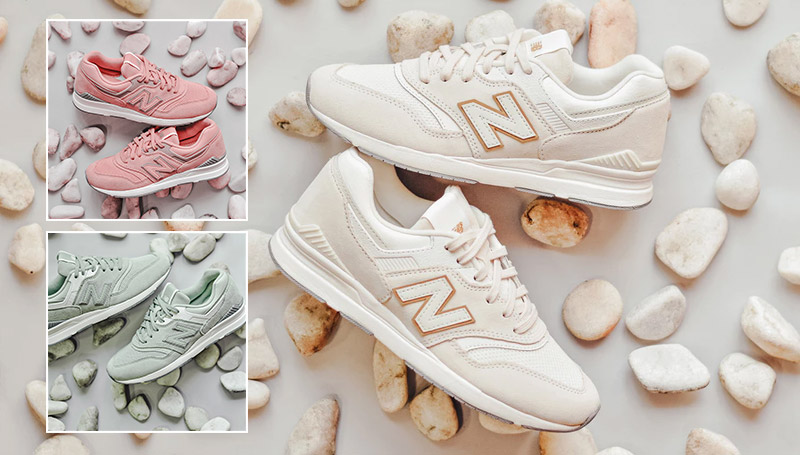 New Balance Sneakers นิวบาลานซ์ รองเท้า รองเท้าผ้าใบ รองเท้าสีชมพู