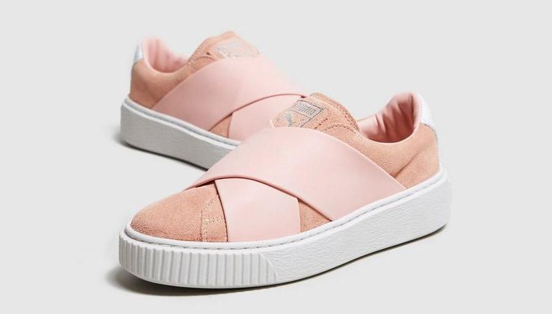 puma shoes รองเท้า รองเท้าสีชมพู