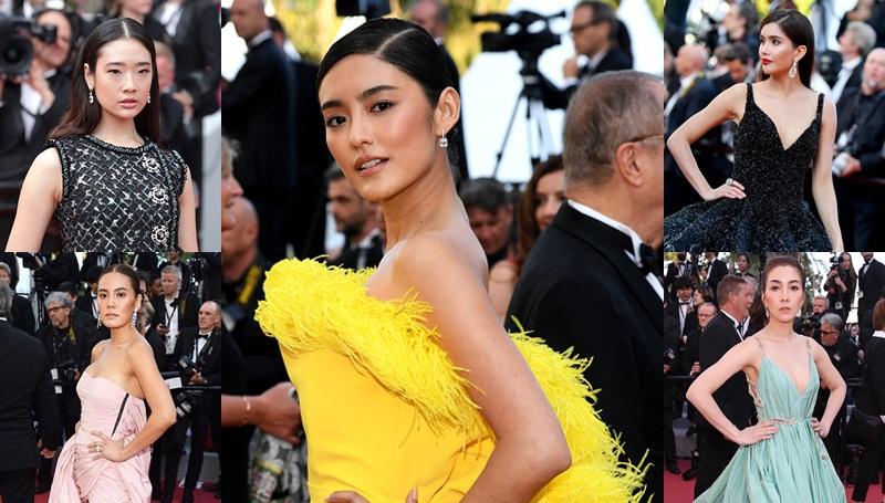 Cannes Film Festival 2018 ชมพู่ อารยา ดาราไทยเดินพรมแดง ปู ไปรยา ออกแบบ ชุติมณฑน์ เจนนี่ เทียนโพธิ์สุวรรณ เมืองคานส์