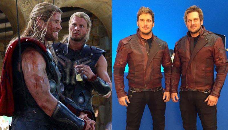 Avengers Infinity War marvel ซุปเปอร์ฮีโร่ นักแสดง นักแสดงฮอลลีวูด มาร์เวล สตั๊นท์แมน สแตนอิน