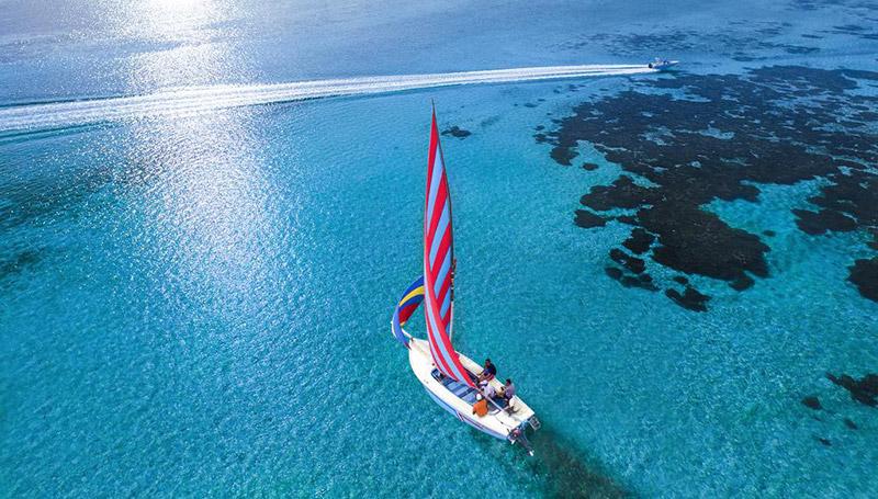 ท่องเที่ยว ทะเล อ่าวบลูเบย์ เกาะ เกาะมอริเชียส