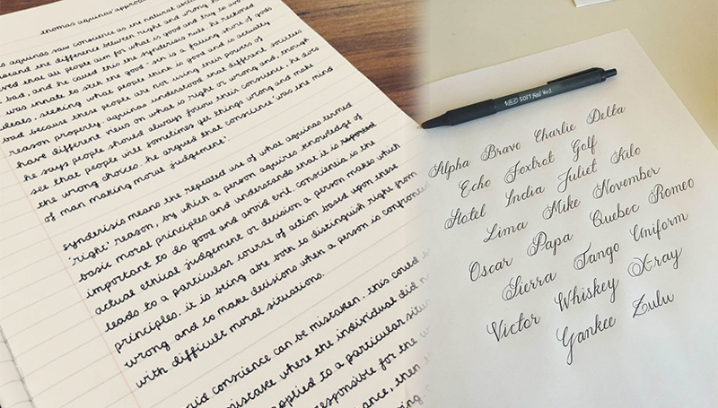 การเขียน ลายมือ