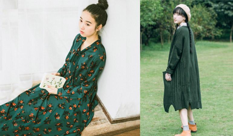 ธรรมชาติ สีเขียว เสื้อผ้า ไอเดียแต่งตัว