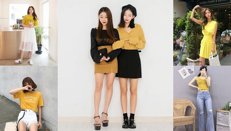 วันจันทร์ แฟชั่นสีตามวัน แฟชั่นสีเหลือง แฟชั่นเกาหลี