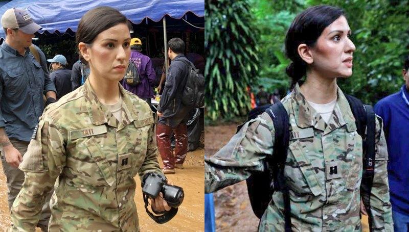 กองทัพสหรัฐฯ ถ้ำหลวง ถ้ำหลวงขุนน้ำนางนอน ทหารหญิง