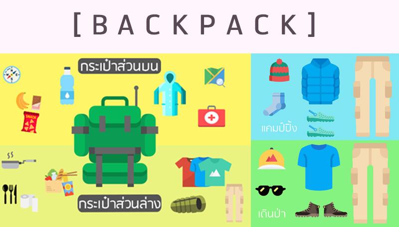 backpack กระเป๋า การจัดกระเป๋า ท่องเที่ยว เคล็ดลับดีๆ เทคนิคต่างๆ