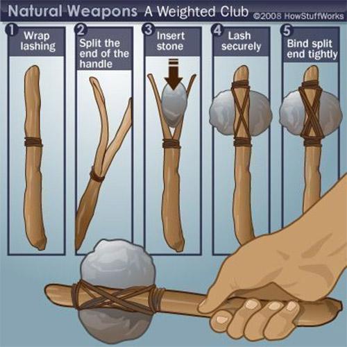 การทำฆ้อน ทำอาวุธจากธรรมชาติ