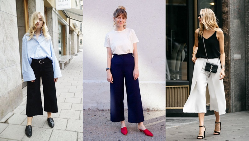 Culottes กางเกง กางเกงคูลอต