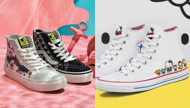 รองเท้า Converse รองเท้า VANS รองเท้าผ้าใบ รองเท้าแฟชั่น ลายการ์ตูน