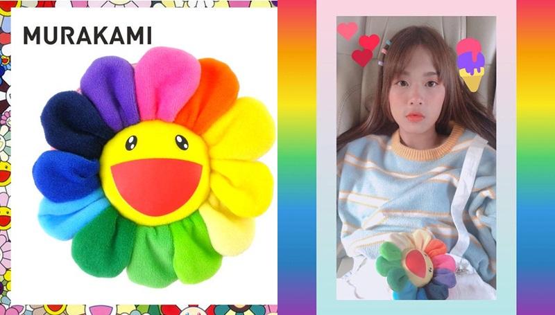 bigbang G-Dragon Murakami ญี่ปุ่น ดอกไม้ ดอกไม้สีรุ้ง โมบายล์ BNK48
