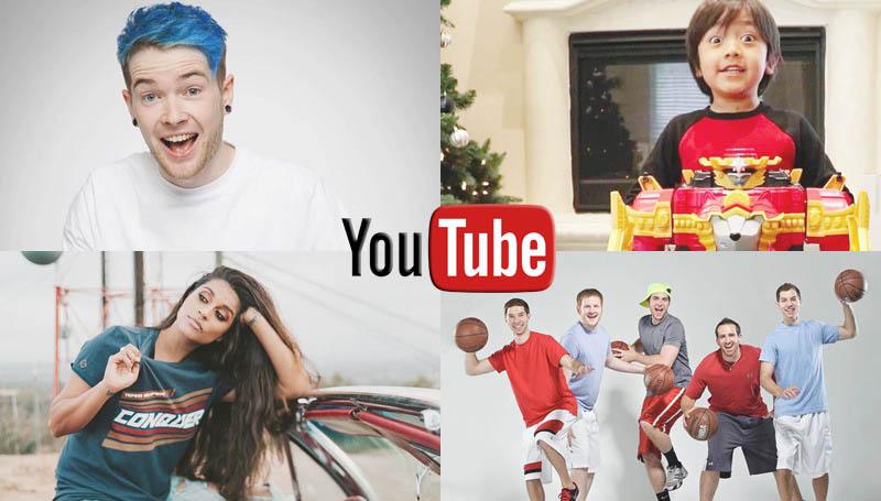 Youtube YOUTUBER การจัดอันดับ ยูทูป ยูทูปเบอร์ รายได้