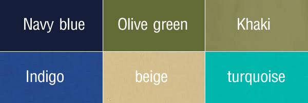 วิธีเรียกชื่อสี สีแปลกๆ ในภาษาอังกฤษ