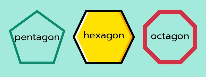pentagon ห้าเหลี่ยม ภาษาอังกฤษ