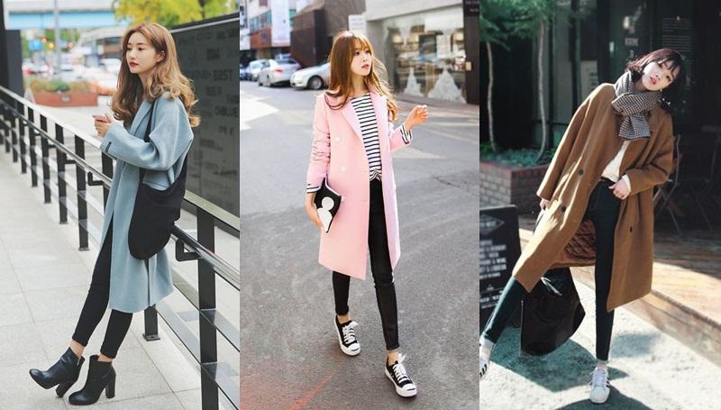 เสื้อโค้ทตัวยาว แฟชั่นหน้าหนาว แฟชั่นเกาหลี