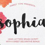 ฟอนต์ Sophia