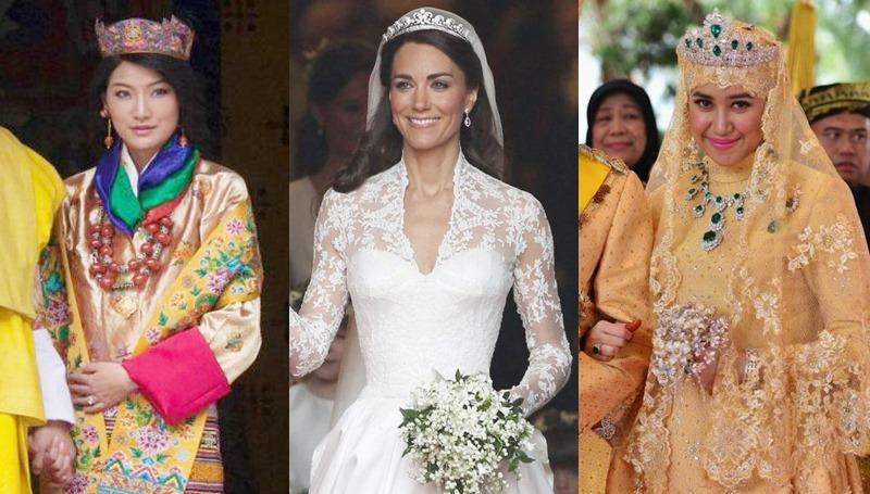 ชุดแต่งงาน ทั่วโลก ราชวงศ์ เจ้าสาว เจ้าหญิง
