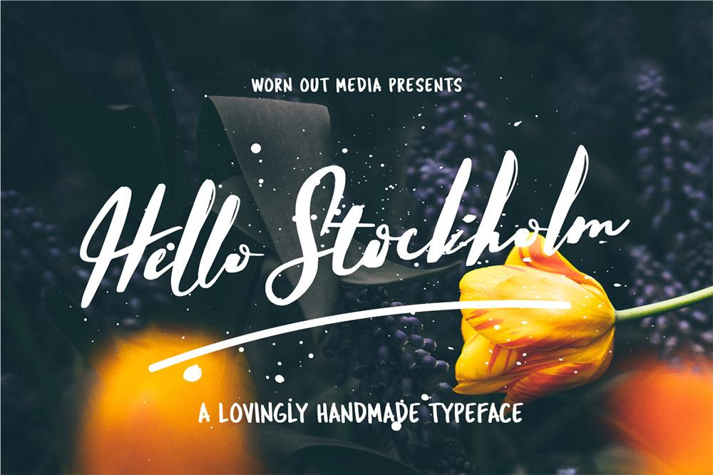 ฟอนต์ HELLO STOCKHOLM