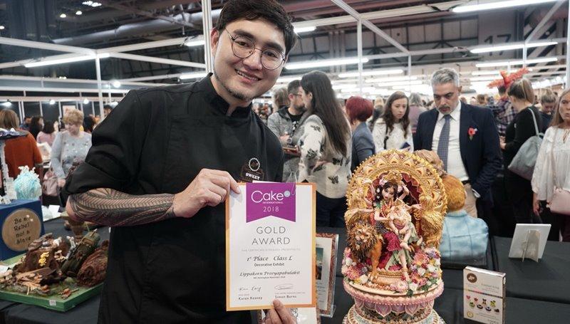 Cake International งานประกวดเค้กน้ำตาลปั้น อันดับหนึ่ง เค้กน้ำตาลปั้น