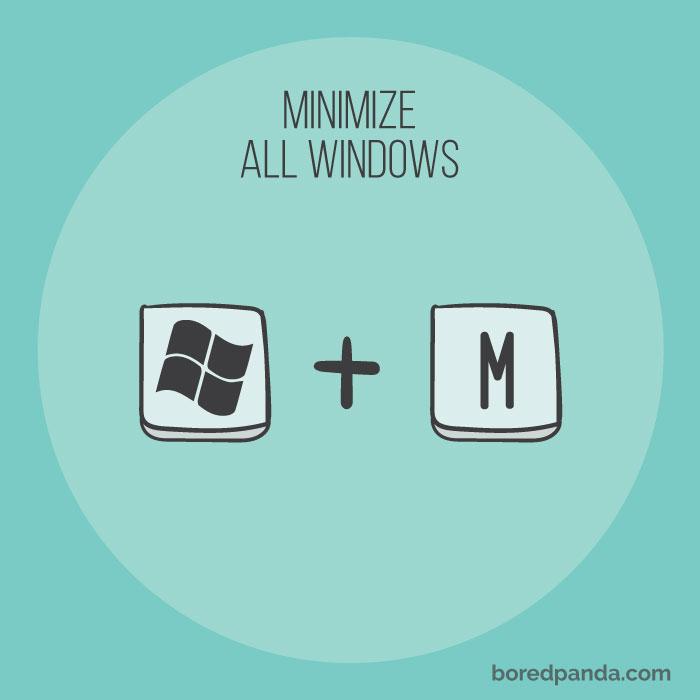 ย่อหน้าต่างทั้งหมดให้เล็กสุด