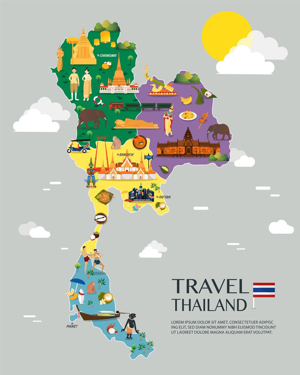 ประเทศไทย แบ่งแบบ 4 ภาคตามการปกครอง