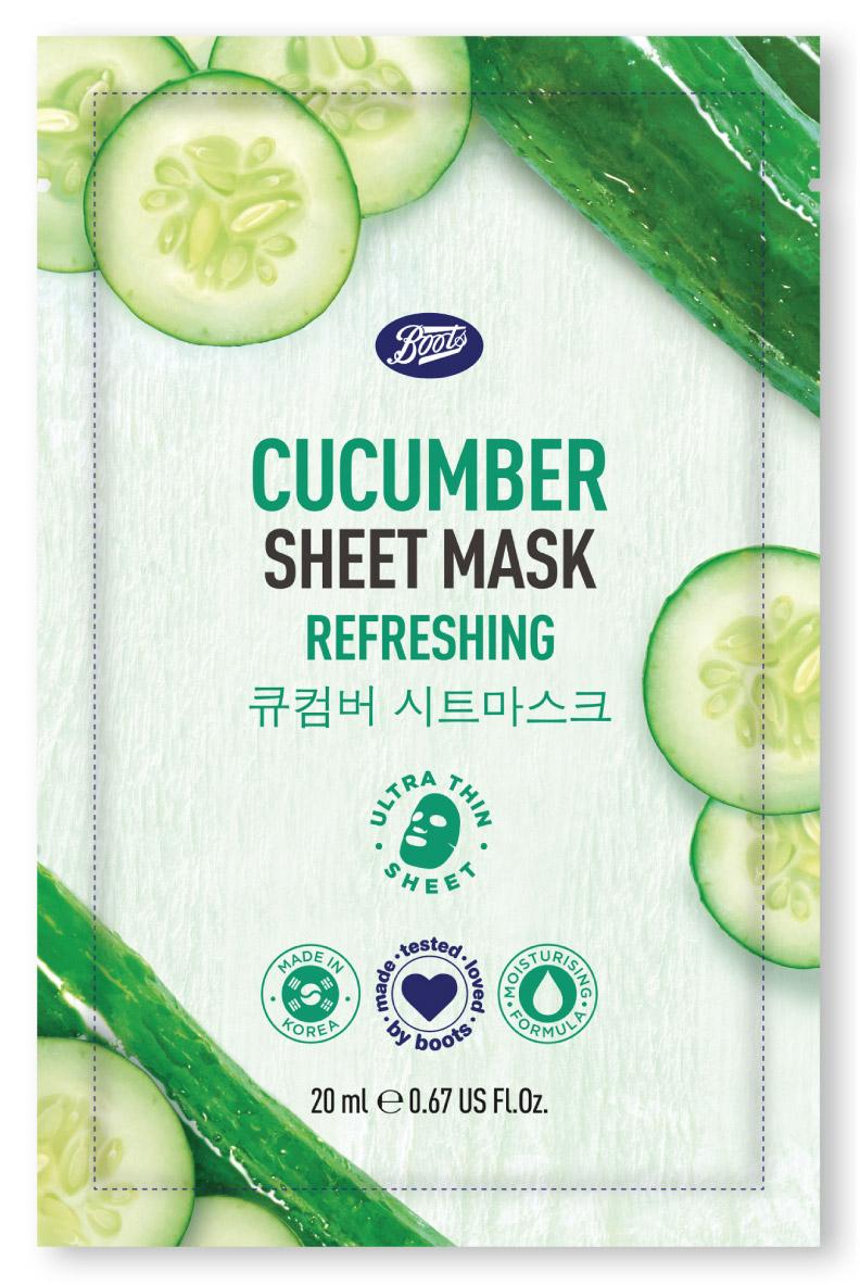 บู๊ทส์ คิวคัมเบอร์ ชีท มาสก์ (Boots Cucumber Sheet Mask)
