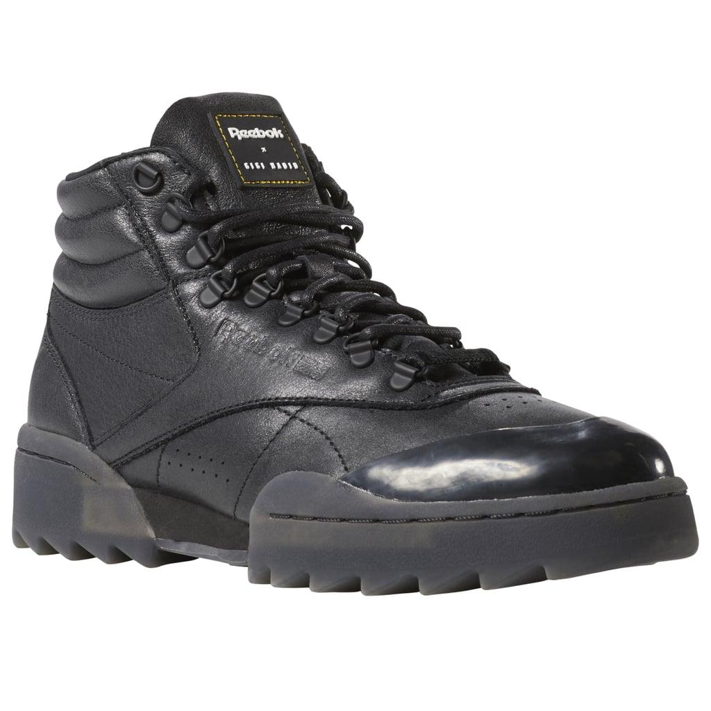 Reebok Freestyle Hi Nova Ripple x Gigi Hadid Sneakers in Black